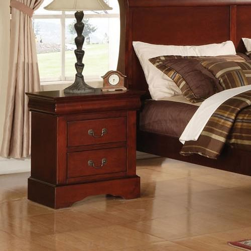 Acme furniture louis philippe iii two drawer transitional nightstand